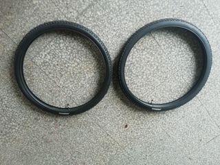 2 ruedas y 2 cámaras de 29 pulgadas