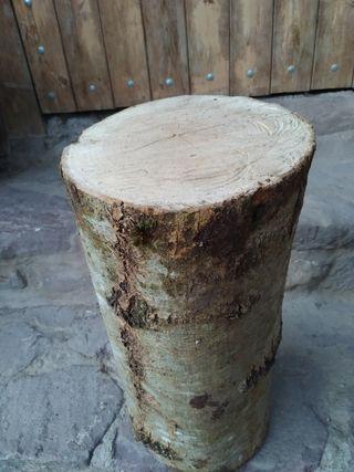 tronco. madera. tronco de madera natural.