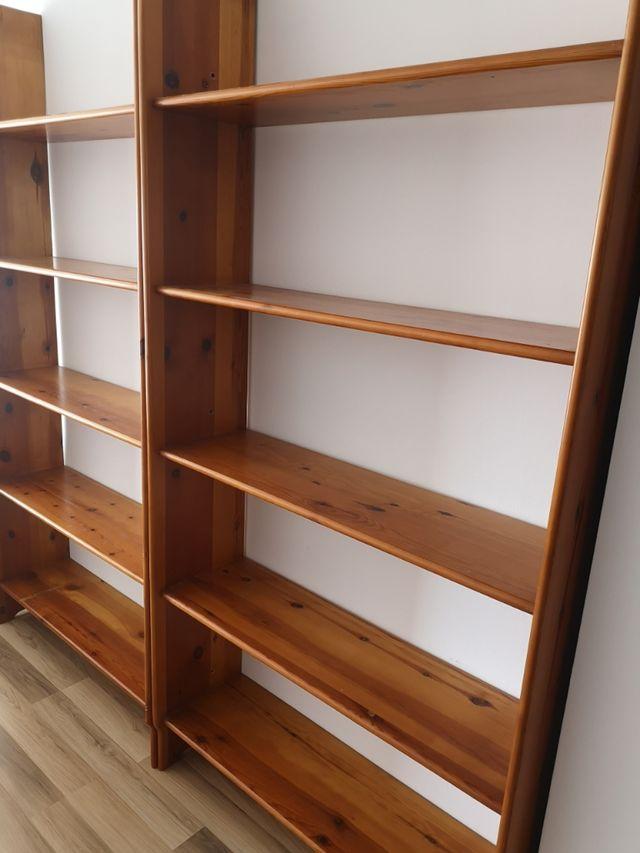 estanterías madera maciza
