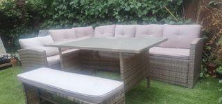 muebles de jardín, capacidad 8 personas