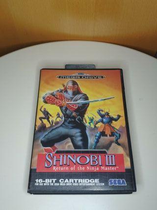 juego shinobi III de consola mega Drive completo