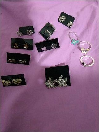 pack pendientes y anillos