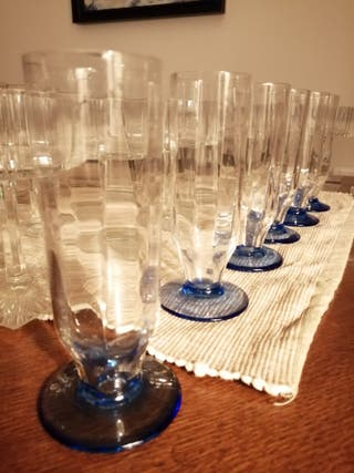 Glass cups verres vintage
