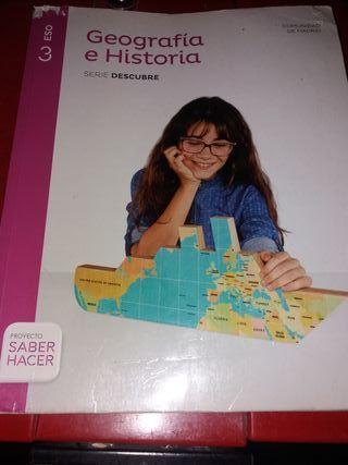 libro 3° de la eso de geografia e historia.