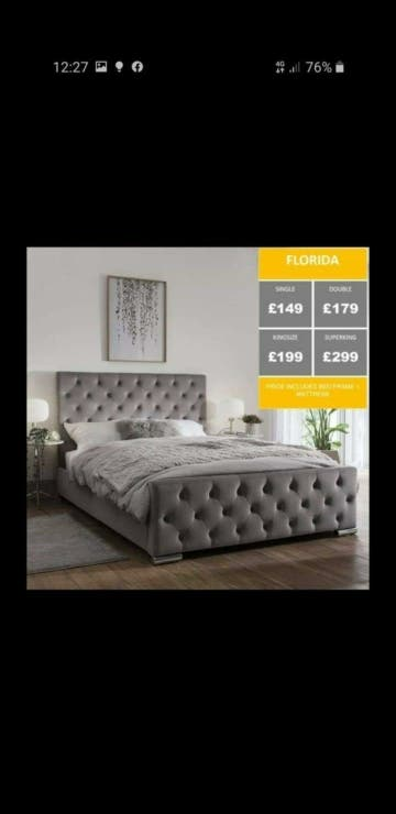 BRAND NEW BEDS WITH MATTRESS
