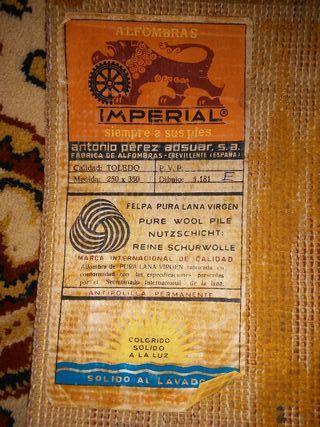 Alfombra clásica de lana 250x350 cm