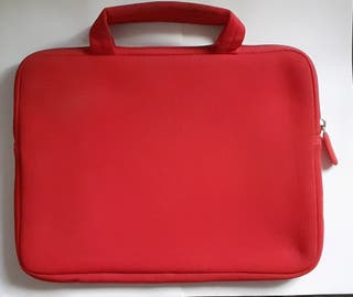 Maletín Ordenador/Tablet Rojo Con Asa 28,5 x 22 cm