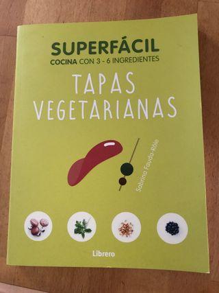 Libro de cocina receta tapas vegetarianas