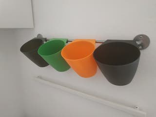 Riel y recipientes Ikea descatalogado
