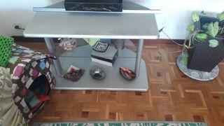 mesa de tv color gris