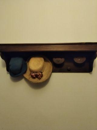 estante colgador madera