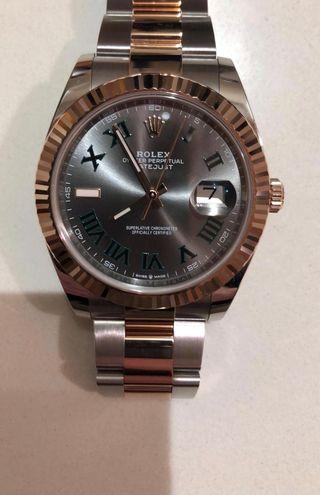 Rolex Acero y Oro Rosa Wimbledon