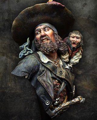 Hector barbossa busto pirates del caribe
