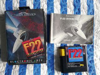 Mega Drive F22 Completo