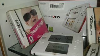 Nintendo DS Blanca/Roja con regalo de Juego