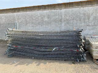 Valla de obra de 3,5 × 2 m usada