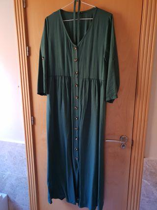 Vestido boho verde