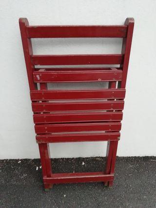 3 sillas madera, plegables