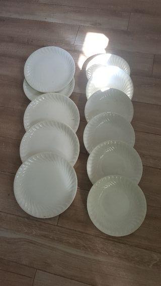12 platos porcelana