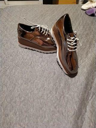 Zapatos de moda gris plata Stella McCartney