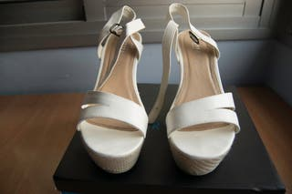 Tacones de plataforma (pie: 41) Color blanco