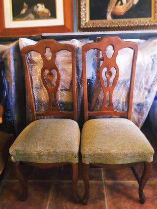 juego de sillas de salon .
