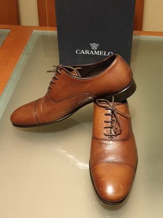 ESTRENAR. Zapatos piel lujo Caramelo hombre 43