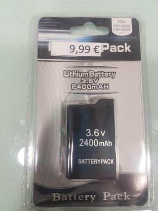 bateria litio 3.6V 2400mAh para PSP2000 y PsP3000