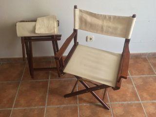 2 sillas vintage madera auténtica