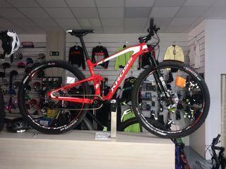 Bicicleta de doble suspensión carbono nueva