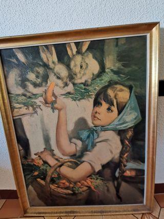 cuadro pintado a mano.