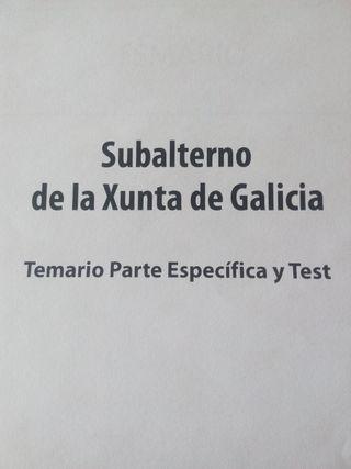 Temario específico Subalterno Xunta