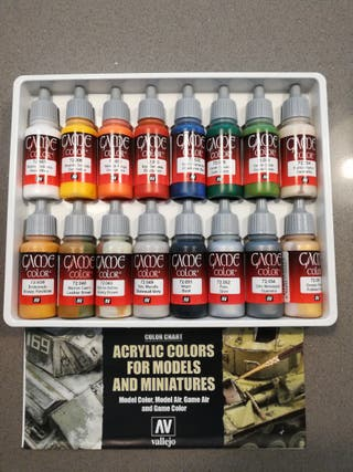 caja de pintura acrílica