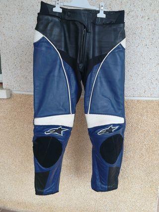 pantalón moto piel alpinestar