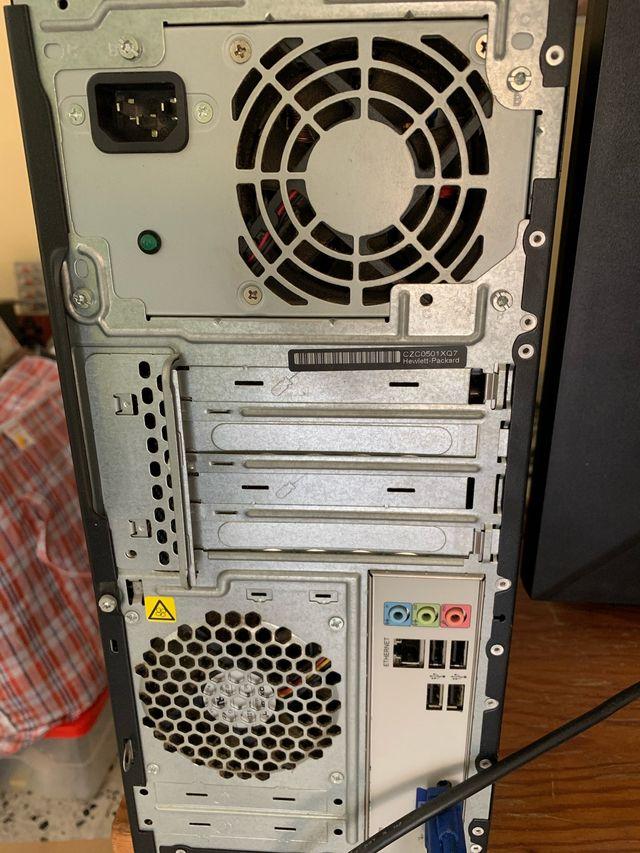 Ordenador hp + monitor Acer + teclado hp