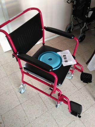Silla WC aseo con ruedas