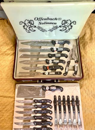 Solingen cubertería + cuchillos