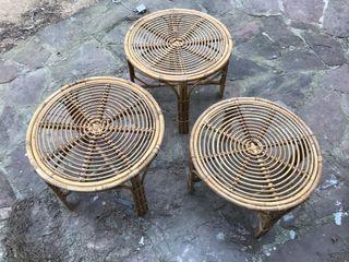 Mesas de diferentes tamaño