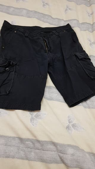 Pantalones cortos/bermudas negros caballero