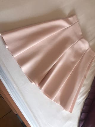 """Falda rosa pastel estilo """"cheerleader"""""""