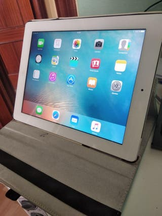 tablet iPad3 Wifi+4G 64GB blanco con funda con sop