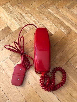 ANTIGUO TELÉFONO GÓNDOLA ROJO AÑOS 70/80