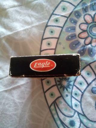 Mini agenda telefónica metálica Eagle años 80.