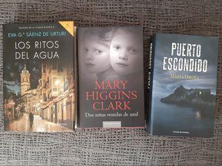 Lote de tres libros misterio