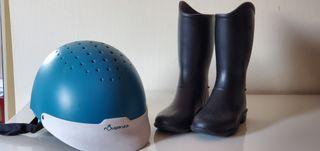 Casco niño/a equitación y botas