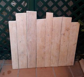 cabecero de cama de madera blanco