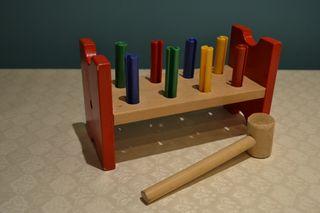 Juego con martillo - Madera para Niños y Bebés