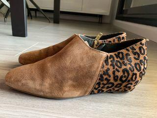 Botin leopardo piel vuelta