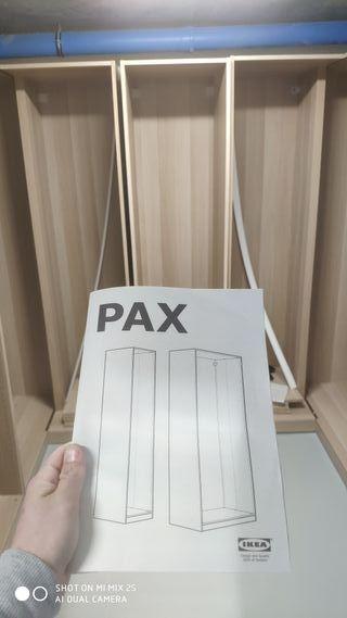 Montaje vestidores armarios pax Ikea + en mi perfi