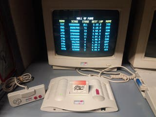 AMSTRAD GX4000 + BURNING RUBBER